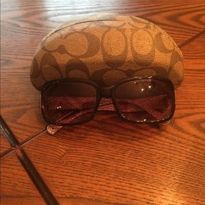 Coach sunglasses brown